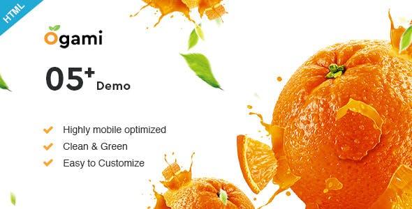 Ogami v1.0 — Multipurpose Organic Store & Bakery HTML Templates