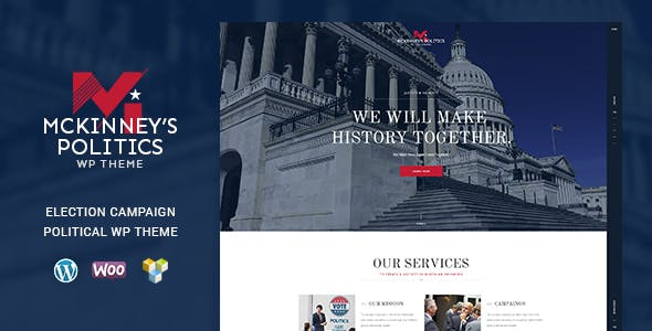 MCKinney's Politics v1.1 — Elections Campaign & Political WordPress Theme