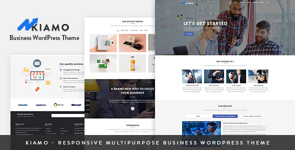 Kiamo v1.1.1 — Responsive Business Service WordPress Theme
