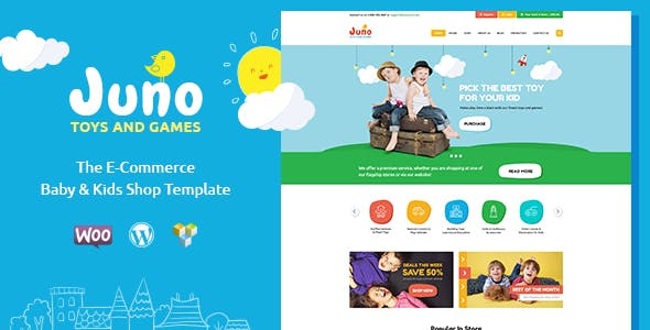 Juno v1.5 — Kids Toys & Games Store WordPress Theme