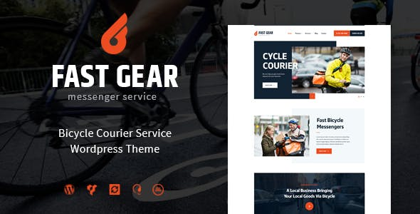 Fast Gear v1.1.0 — Courier and Delivery Services WordPress Theme