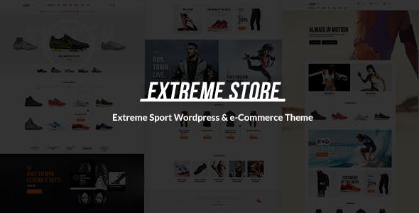 Extreme v1.4 — Sports Clothing & Equipment Store WordPress Theme