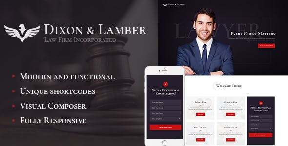 Dixon & Lamber v1.1 — Law Firm WordPress Theme