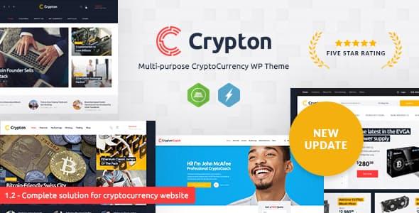 Crypton v1.6 — A Multi-Purpose Cryptocurrency WordPress Theme
