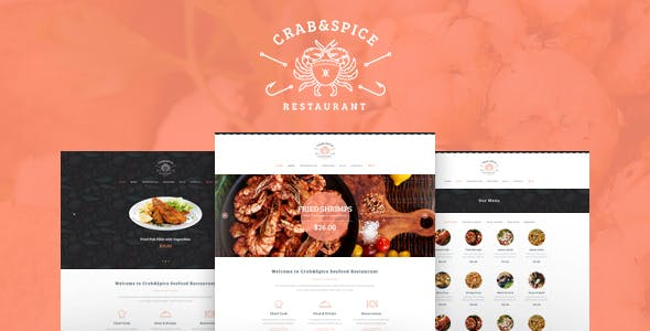 Crab & Spice v1.3.1 — Restaurant and Cafe WordPress Theme