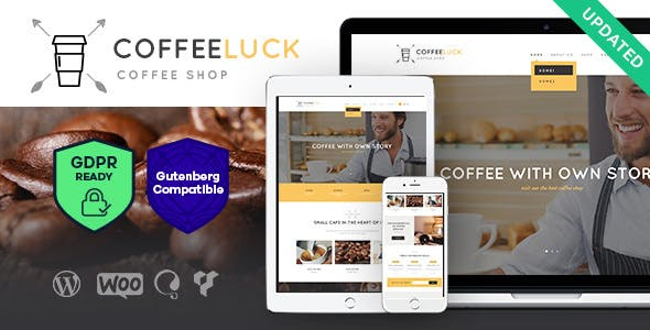 Coffee Luck v1.3 — Coffee Shop / Cafe / Restaurant WordPress Theme