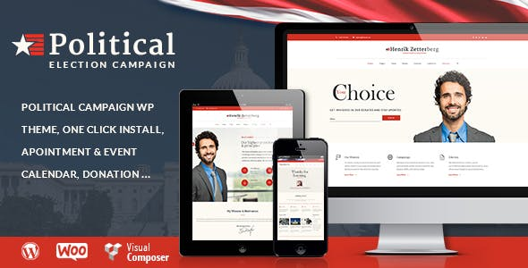 Candidate v1.8 — Political / Non-profit WordPress Theme