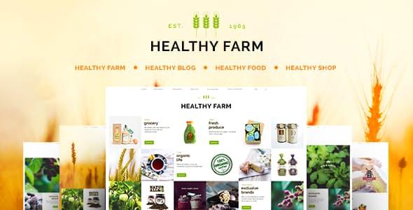 Healthy Farm v2.3 — Food & Agriculture WordPress Theme