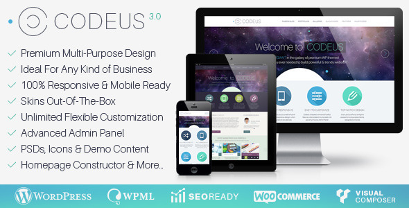 Codeus v3.4.0 — Multi-Purpose Responsive WordPress Theme