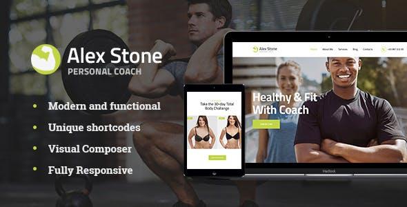 Alex Stone v1.1 — Personal Gym Trainer WordPress Theme
