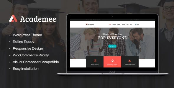 Academee v1.1 — Education Center & Training Courses WordPress Theme