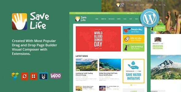 Save Life v1.2 — Non-Profit, Charity & Donations WordPress Theme