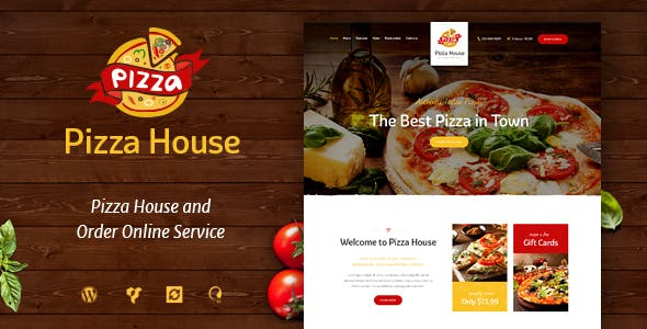 Pizza House v1.2 — Restaurant / Cafe / Bistro WordPress Theme