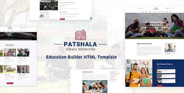 Patshala v1.0 — Education HTML Template with Page Builder
