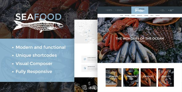 Seafood v1.4 — Company & Restaurant WordPress Theme