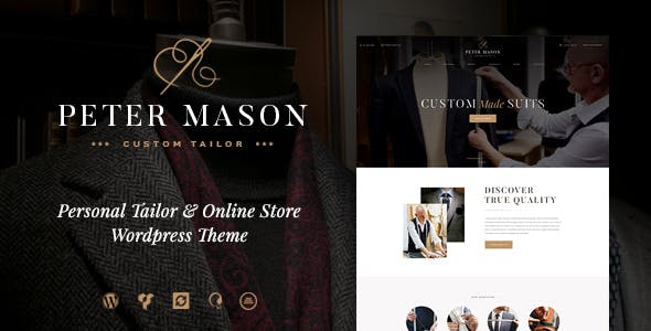 Peter Mason v1.2.0 — Custom Tailoring and Clothing Store WordPress Theme