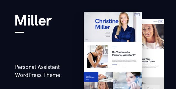 Miller v1.0.3 — Personal Assistant & Administrative Services WordPress Theme