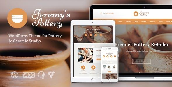 Pottery and Ceramics WordPress Theme v1.3