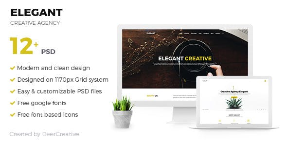 ELEGANT v1.0 — Creative Agency PSD Template