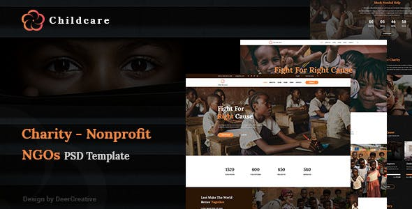 ChildCare v1.0 — Non-Profit, Charity & Donations PSD Templates
