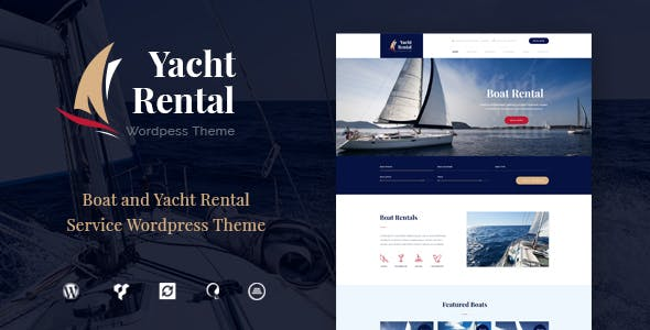 Yacht and Boat Rental Service v1.2 — WordPress Theme
