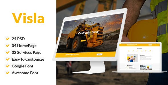Visla v1.0 — Multipurpose Construction PSD Template