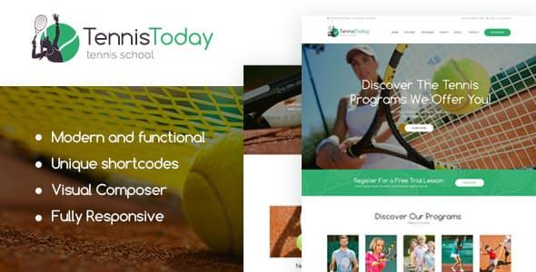 Tennis Today v1.2 — Sport School & Events WordPress Theme