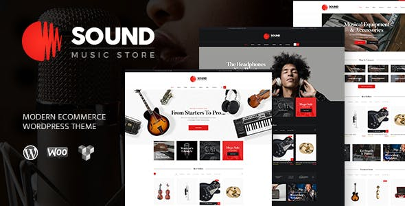 Sound v1.5 — Musical Instruments Online Store WordPress Theme