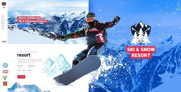Snow Club v1.1 — Ski Resort and Snowboard Classes WordPress Theme