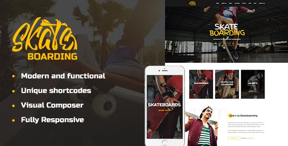 Skateboarding Community & Store WordPress Theme v1.1