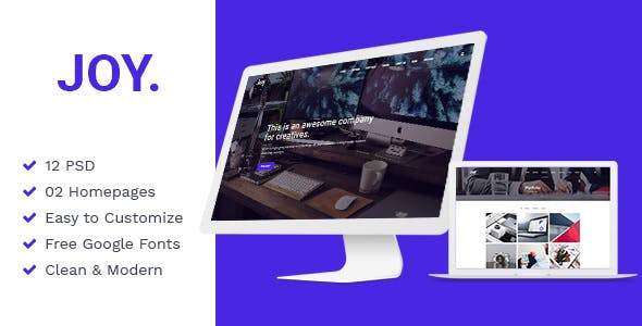 Joy v1.0 — Creative Agency PSD Template