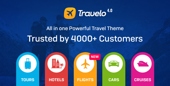 Travelo v4.0.1 — Travel/Tour Booking WordPress Theme