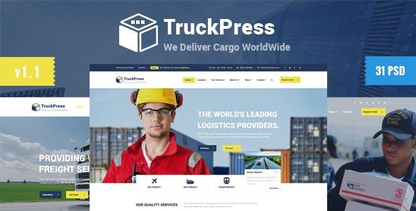 Truck Press — Logistics & Transport Business PSD Template