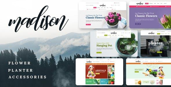 Madison v1.1 — Flowers, Plant, Beauty, Gardening tools, Food store, Nursery Shopify Theme