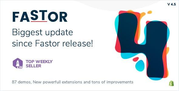 Fastor v4.5 — Multipurpose Shopify Sections Theme