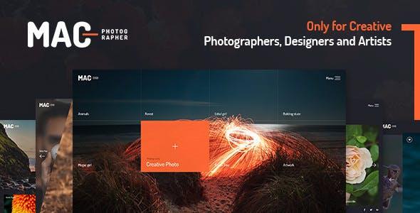 MAC v1.1 — Photography Fullscreen WordPress Theme