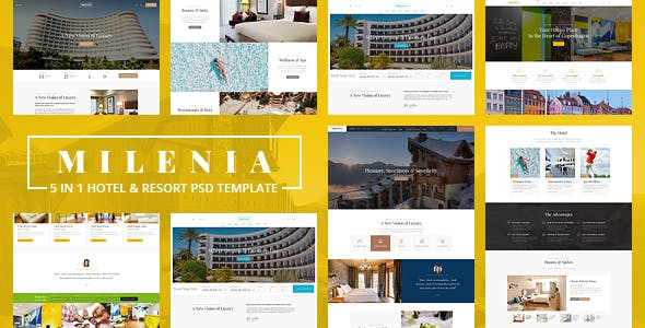 Milenia v1.0 — Hotel & Resort PSD Template
