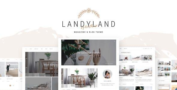 Landyland v1.0 — Responsive Clean Blog & Magazine Theme