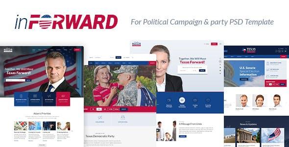 inForward v1.0 — Political Campaign, Party, Nonprofit PSD Template