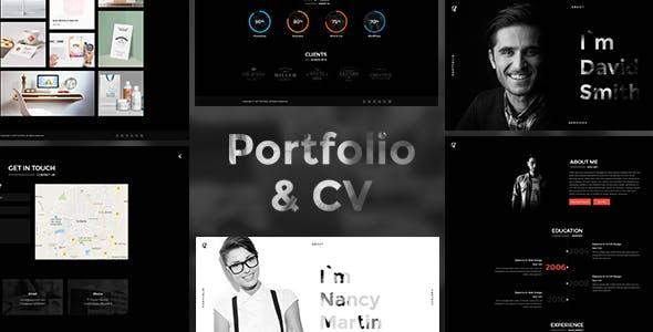 CV Portfolio v1.0.5 — Portfolio HTML Template