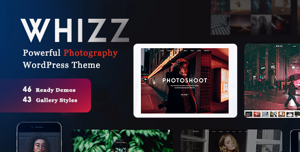 Whizz v2.0.1 — Photography WordPress for Photography