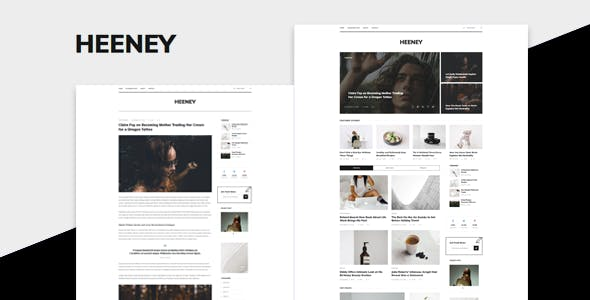 Heeney v1.0 — Modern Blog HTML5 Template