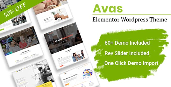 Avas v4.9.1 — Multi-Purpose Elementor WordPress Theme
