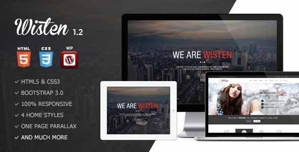 Wisten v1.3 — WordPress One Page Parallax Theme