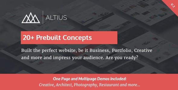 Altius v1.1 — Multi-Purpose WordPress Theme