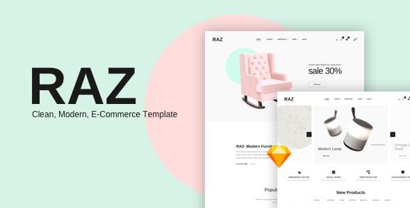 RAZ — Clean, Modern e-Commerce Sketch Templates