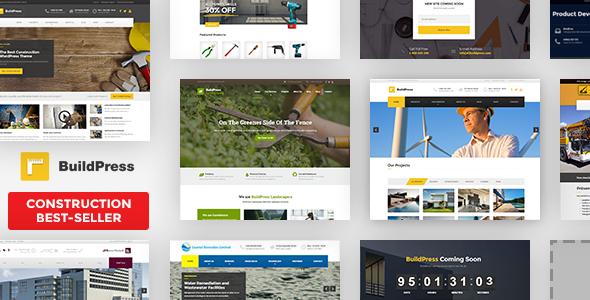 BuildPress v5.5.7 — Multi-purpose Construction and Landscape