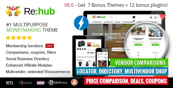 REHub v8.1.6 — Price Comparison, Business Community