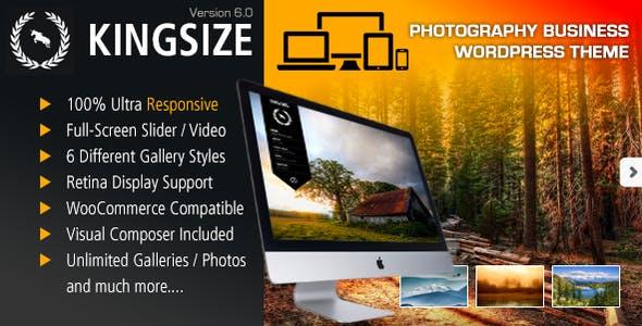 King Size v6.0 — Fullscreen Background WordPress Theme