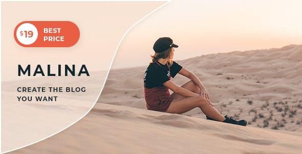 Malina v1.3.1 — Personal WordPress Blog Theme